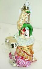 Radko 2005 Champagne 6� New Years Doubly Bubbly Pink roses Christmas Ornament