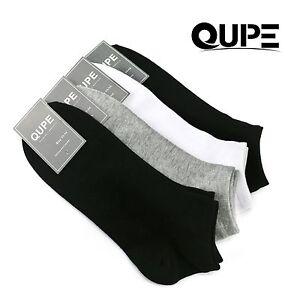 15 PK QUPE Men Women Low Cut Ankle Sports Cotton Socks Size 2-8,6-10,11-14