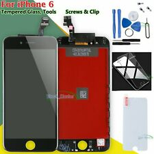 """Display Black For iPhone 6 4.7"""" LCD Touch ScreenDigitizer & Tempered Glass Film"""