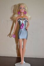 Blonde Barbie with Handmade Gold and Pink Ring Jewelry Free Shipping