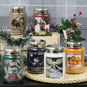 26oz Village Candle Double Wick Large Scented Candle Glass Jar Home Fragrance