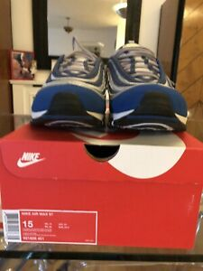 Air Max 97 Atlantic Blue Voltage Yellow UK Size 14