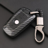 Carbon Fiber Design Shell+Silicone Cover Holder Fob Case For BMW Remote Key A