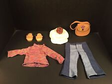 American Girl Doll Julie Classic Meet Dog Walking Outfit Lot Retired