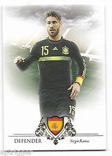 2016 Futera Unique Base Card (024) Sergio RAMOS - Code is Unused