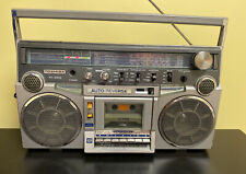Toshiba RT-200S Vintage 80s Boombox Stereo Cassette Player AM/FM Radio Aux & Mic