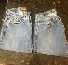 TOMMY HILFIGER TWO PAIRS BLUE STRAIGHT JEANS 31 x 32
