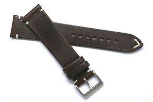 20mm Brown Genuine Leather Replacement Classic Watch Band Handmade - Shinola 20