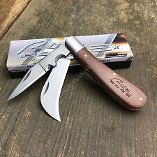 "Rite Edge 4"" Closed Hawkbill Wood Handle Electricians Folding Knife 210595 New!"