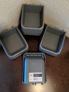 Elfa utility Pegboard Accessory Boxes Gray 478870 X 6 Pcs 4 2/6x5 3/4x2 1/4 new