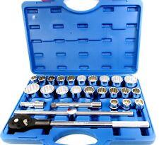 "27pc 3/4"" Drive IMPERIAL / METRIC Chrome Vanadium Socket Tool Set AF / MM SS304"