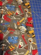 Tools All Over Plastic Bag Holder Cotton Handcrafted Free Shipping