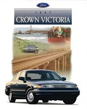 1997 Ford CROWN VICTORIA Brochure / Catalog with Color Chart: LX,111A