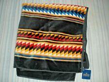 "NEW PENDLETON Cotton Beach Towel Black Suwanee Stripe Jacquard 40"" x 70"""