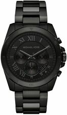 Men's Michael Kors Brecken Black Steel Chronograph Watch MK8482