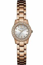 Guess Women's Dress,Stainless Steel,Gold-Tone,Crystal Accented Bezel W0889L3