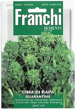 Franchi Seeds Sprouting Broccoli Cima di Rapa Quarantina seed
