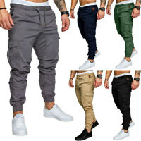 Mens Sport Pants Long Trousers Tracksuit Gym Casual Workout Joggers Sweatpants
