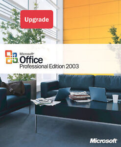 Microsoft Office Professional Edition 2003 Upgrade New Sealed Box Upgrading