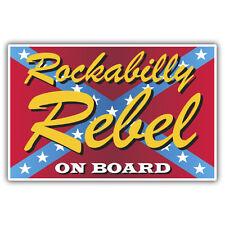 Rockabily rebel on board-american car or hotrod sticker 100mm high x 65mm retro