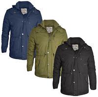 New Soul Star Men's Long Padded Warm Hooded Jacket S M L XL XXL Winter Coat