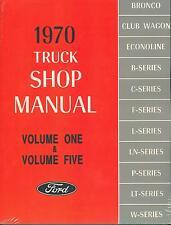 1970  FORD  TRUCK SHOP MANUAL-ALL MODELS-2 BOOK SET