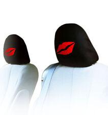 NEW DESIGN PAIR CAR TRUCK LIPS LOGO SEAT HEADREST COVERS ACCESSORIES