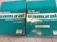 1988 SUZUKI SAMURAI Service shop Repair Manual SET W SUPPLEMENT BRAND NEW