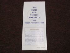 NOS NEVER STAMPED 1969 69 Buick Owners Protection Plan Paper Pamphlet Literature