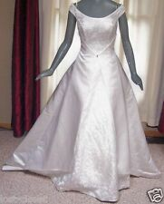 Maggie Sottero Light Ivory Cap Sleeve Bridal Gown Wedding Dress Size 8 10