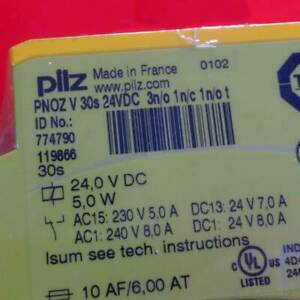 1pcs New Pilz Relay PNOZ V 30s 24VDC 774790