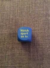 UNBRANDED NOVELTY LARGE BLUE WOODEN DICE GIVES DIFFERENT INSTRUCTIONS SIDES