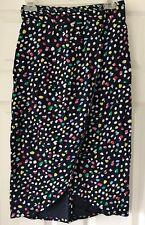 J Crew pencil skirt foe wrap tulip confetti pattern Sz 2 Blue F2182
