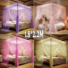 Princess 4 Post Bed Canopy Four Corner Mosquito Bug  Net Queen King Size Insect