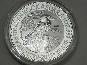 BU 2015 Australian Kookaburra 1 troy oz 999 Fine Silver AUSTRALIA.  #5