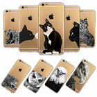 For Apple iPhone 4S/5S/5C/6 TPU Case Cover Transparent Cute Animal Printed Skins