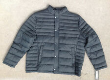 $175 Kenneth Cole Quilted Puffer Hipster Jacket, Olive, Size 2XL