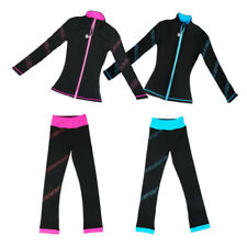 Figure Skating Suit Women's Girls' Ice Skating Training Jacket trousers Blue red