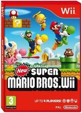 NEW SUPER MARIO BROS WII NINTENDO WII GAME - 1st Class consegna