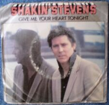 "SHAKIN' STEVENS-GIVE ME YOUR HEART TONIGHT/THINKIN' OF YOU ""RARE OZ PROMO""  45"