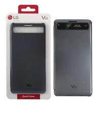OEM LG V20 Clean UP Quick window Cover Flip Case Titan Black Original Retail Box