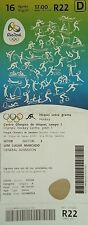 TICKET A 16.8.2016 Olympia Rio Hockey Men's Belgien - Niederlande # R22