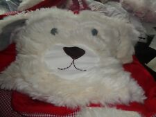 Pottery Barn Kids Shaggy Head sleeping bag puppy dog mono Caroline red gingham