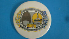 ARMY VS. NAVY- DEC.4,1999-100TH MEETING=PHILADELPHIA,PA OLD HELMITS BUTTON