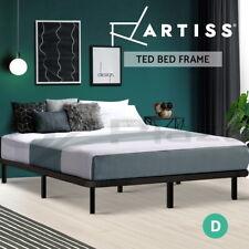 Artiss Bed Frame DOUBLE Metal Bed Base Frame Timber Mattress Foundation Platform