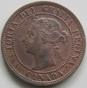 1886 Canada Canadian Large 1 Cent Victoria Coin