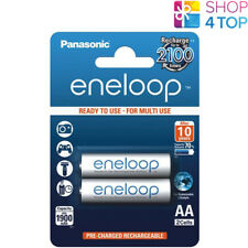 2 PANASONIC ENELOOP RECHARGEABLE AA HR6 BATTERIES BLISTER PACK 1.2V 2000mAh NEW