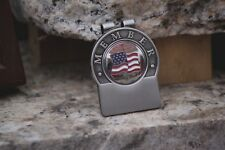 American Flag Cloissonne Personalized Money Clip - Free Engraving