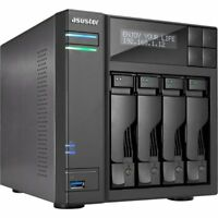Asustor AS6404T Nas 40tb 4x10tb Sata3 Perp Tower Raid 0/1/5/6/10 Gbe 4bay