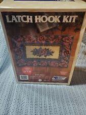 Latch Hook Floral Rug Kit 24x36. National Yarn Crafts # R906 Majestic